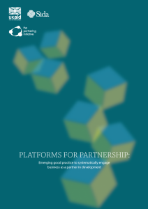 Platforms for Partnership