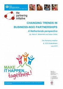 Changing Trends in Business-NGO Partnerships - A Netherlands Perspective