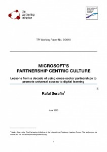 Microsoft's Partnership Centric Culture