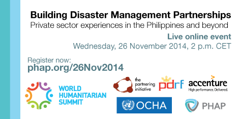 Live Online Event - Building Disaster Management Partnerships