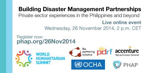 Live Online Event - Building Disaster Management Partnerships