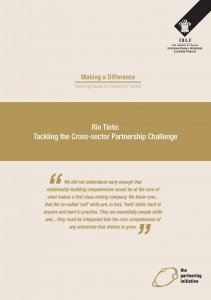 Rio Tinto: Tackling the cross-sector partnership challenge