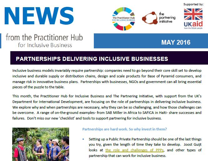 Major new resource on partnerships for Inclusive Business