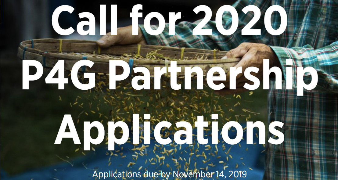 Applications open for P4G 2020!